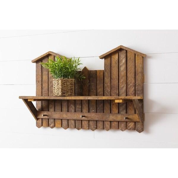 Reclaimed Oak Wall Coat Rack