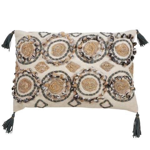 Contemporary Design Block Print Pillow