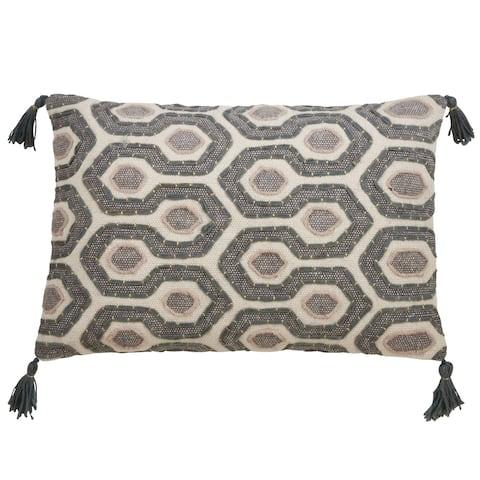 Modern Design Block Print Pillow