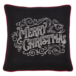 Merry Christmas Chalkboard Design Pillow