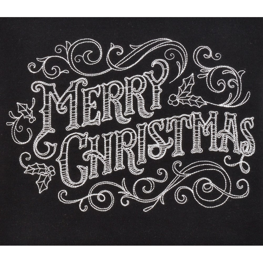 Shop Merry Christmas Chalkboard Design Pillow Overstock 29769268