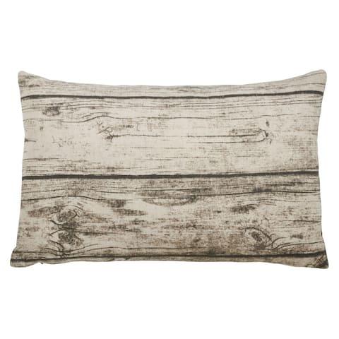 Woodgrain Print Throw Pillow