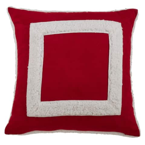 Square Sherpa Design Throw Pillow