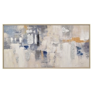 Painting W/frame-oil On Canvas in Blue 55in L x 1in W x 28in H