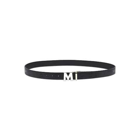 MCM Claus Reversible Belt Monogram - Black