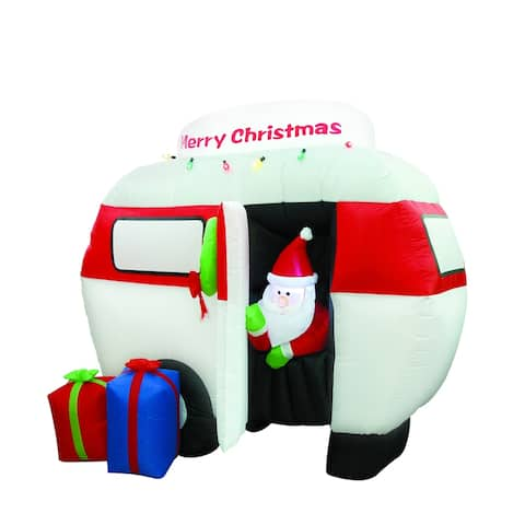6.5FT Airblown Camper with Santa