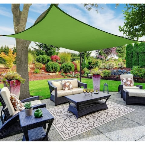 Sun Shade Sail Canopy, Rectangle, Green, 8'x12'