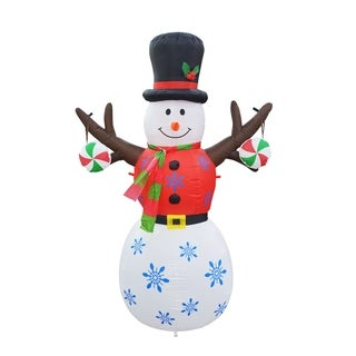 Link to 6FT Inflatable Tree Hand Snowman Similar Items in Christmas Decorations