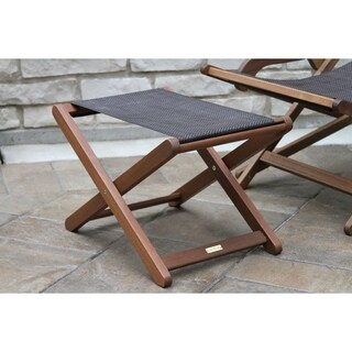 Link to Eilara Eucalyptus and Dark Brown Sling Ottoman by Havenside Home Similar Items in Patio Furniture