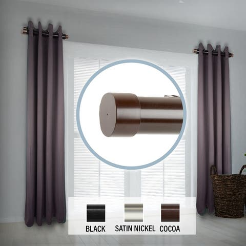 """InStyleDesign 1.5"""" Side Curtain Rod 12-20 inch long (Set of 2) - 12 to 20 inches"""
