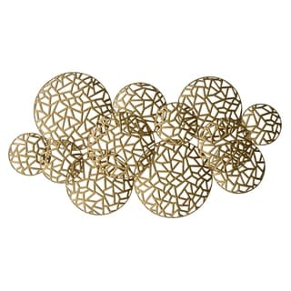 Three Hands Metal Wall Art in Gold Metal 36in L x 2in W x 19in H