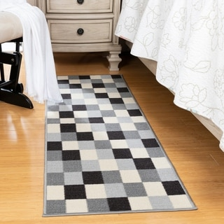 Ottomanson Ottohome Collection Checkered Design Area Rug