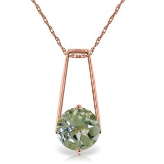 1 45 Carat 14K Rose Gold Lullaby Green Amethyst Necklace