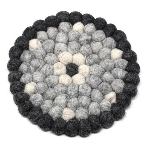 The Curated Nomad Southard Flower Power Felt Ball Trivet