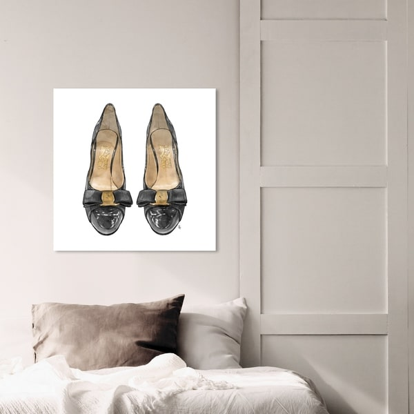 Oliver Gal 'Salvatore's Flats' Fashion and Glam Wall Art Canvas Print - Black, White