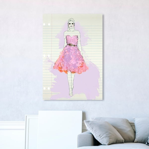 Oliver Gal 'Fashion Illustration 4' Fashion and Glam Wall Art Canvas Print - Pink, White
