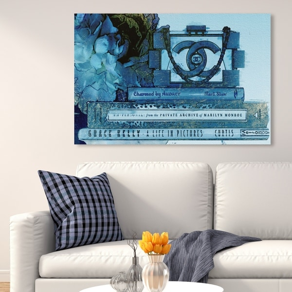 Oliver Gal 'Private Archive Aqua' Fashion and Glam Wall Art Canvas Print - Blue, White