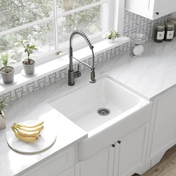 Kohler Whitehaven Apron-front Single-basin Kitchen Sink. Opens flyout.