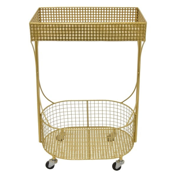 Three Hands Metal Plant Stand in Gold Metal 17in L x 11in W x 27in H