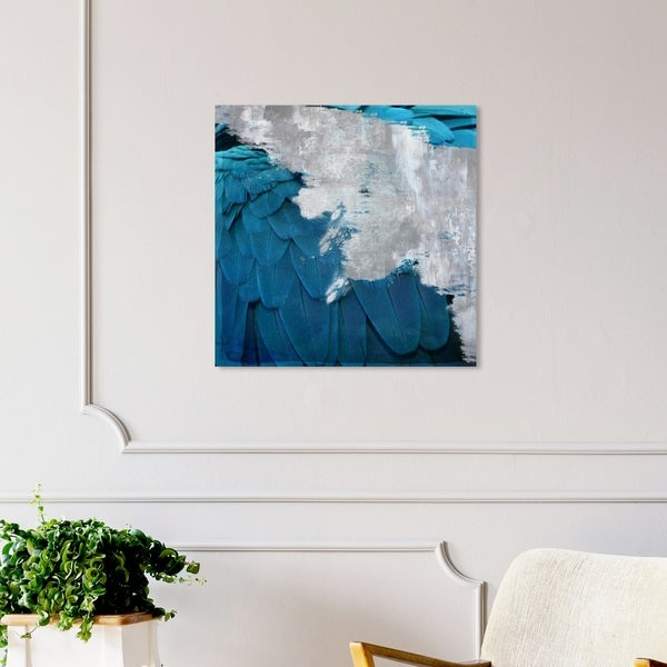 Oliver Gal 'Silver Monoco' Abstract Wall Art Canvas Print - Blue, Gray
