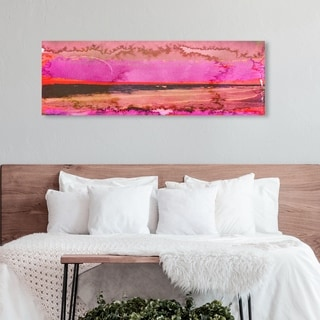 Oliver Gal 'Clamores' Abstract Wall Art Canvas Print - Pink, Black