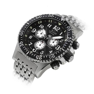 Link to Xezo Air Commando 30 Bars-990 FT Water-Resistant Swiss Chronograph Divers Watch Similar Items in Men's Watches