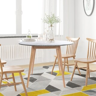 Link to Carson Carrington Tandsjoberg 39-inch Round Italian Carrara Dining Table Similar Items in Dining Room & Bar Furniture