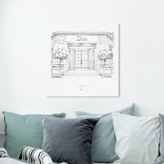 Oliver Gal '30 Avenue Montaigne' Fashion and Glam Wall Art Canvas Print - Black, White