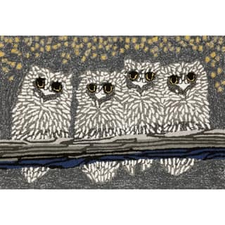 "Liora Manne Frontporch Owls Indoor/Outdoor Rug Night 24""X36"""