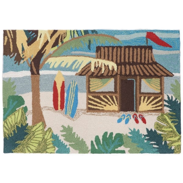 "Liora Manne Frontporch Tiki Hut Indoor/Outdoor Rug Multi 24""X36"""