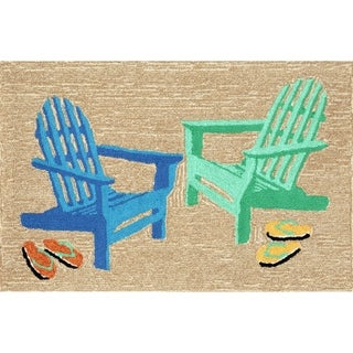 """Liora Manne Frontporch Adirondack Indoor/Outdoor Rug Seaside 24""""X36"""""""