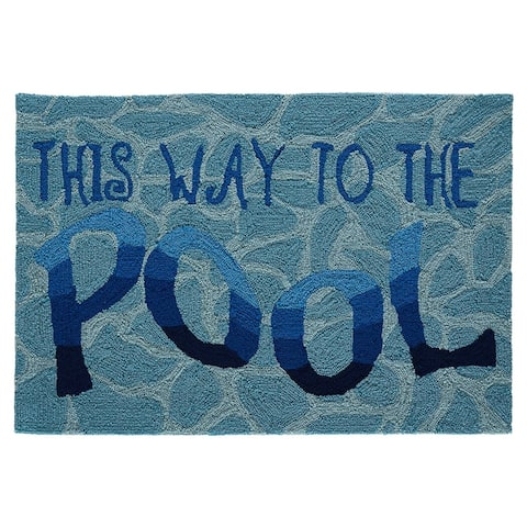 Liora Manne Frontporch This Way To The Pool Indoor/Outdoor Mat