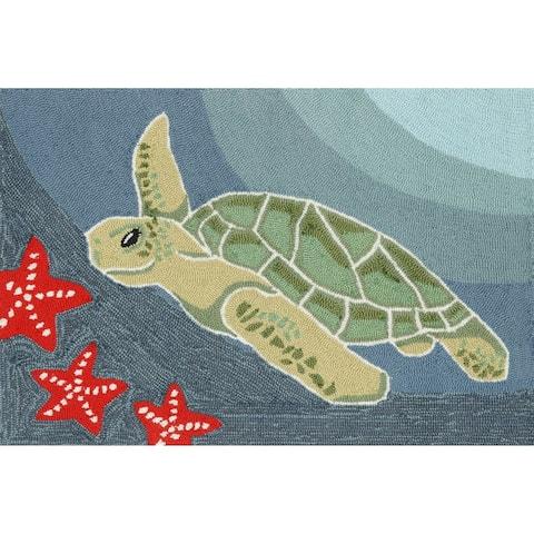 Liora Manne Frontporch Sea Turtle Indoor/Outdoor Mat