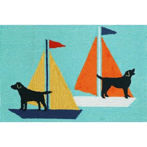 Liora Manne Frontporch Sailing Dog Indoor/Outdoor Mat