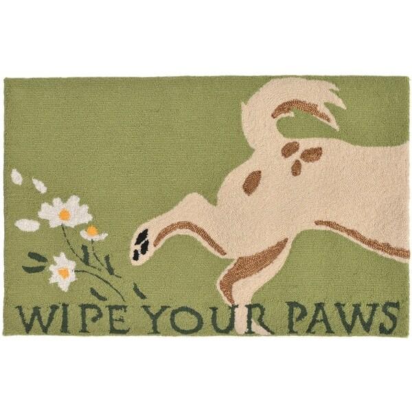 "Liora Manne Frontporch Wipe Your Paws Indoor/Outdoor Rug Green 30""X48"""