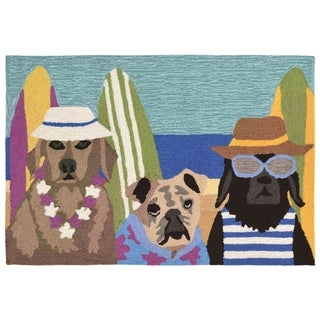 """Liora Manne Frontporch Beach Patrol Indoor/Outdoor Rug Multi 30""""X48"""""""