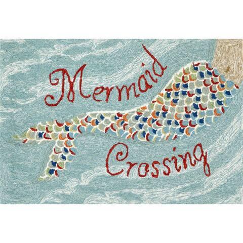 Liora Manne Frontporch Mermaid Crossing Indoor/Outdoor Mat