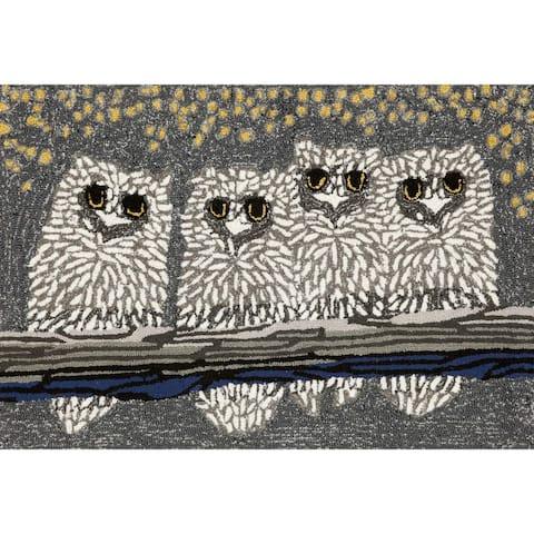Liora Manne Frontporch Owls Indoor/Outdoor Mat