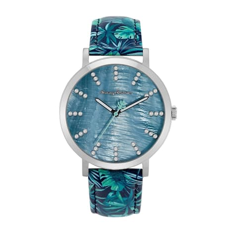 TOMMY BAHAMA Island Fronds Swarovski Crystal Watch