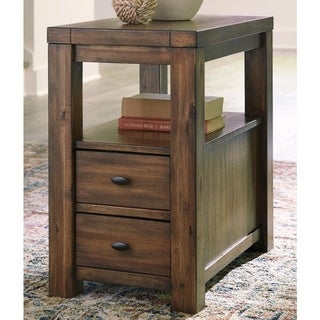 Carbon Loft Odenthal Contemporary Brown Chair Side End Table