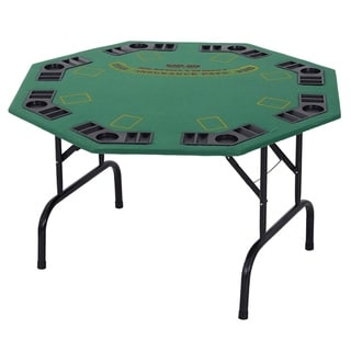"""Link to Soozier 48"""" 8 Person Octagonal Foldable Poker Table with Cup Holders Similar Items in Casino Games"""