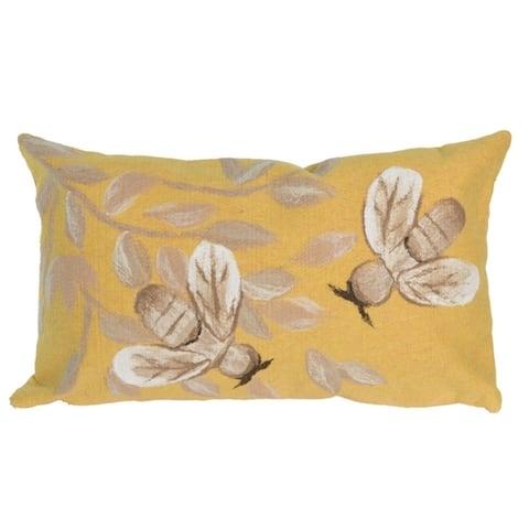 """Liora Manne Visions III Bees Indoor/Outdoor Pillow Honey 12""""X20"""""""