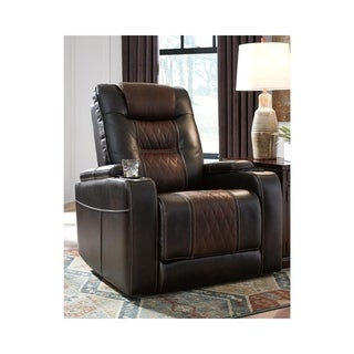 Composer Contemporary Power Recliner Adjustable Headrest Brown
