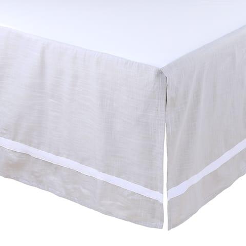 Farmhouse Grey Crib Skirt by The Peanutshell