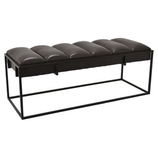 Three Hands Bench in Brown Metal 47in L x 18in W x 18in H