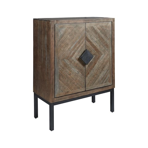 Premridge Contemporary Bar Cabinet with Wine Glass and Bottle Storage