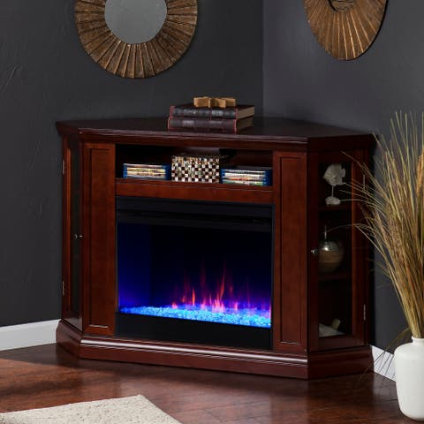 Copper Grove Cabot Cherry Convertible Color Changing Fireplace