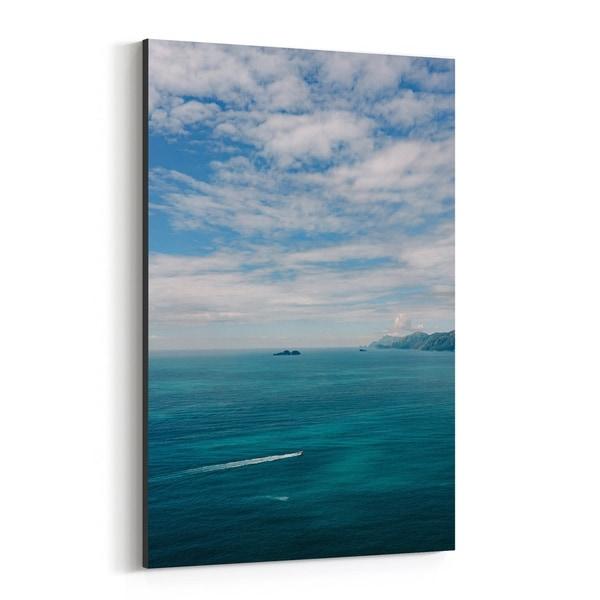 Noir Gallery Positano Italy Beach Boat Nautical Canvas Wall Art Print