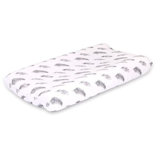 Farmhouse Feather Changing Pad Cover by The Peanutshell
