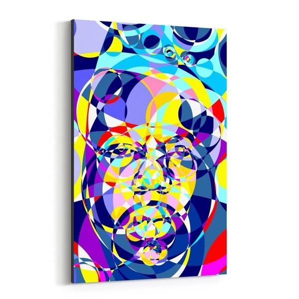 Noir Gallery Notorious BIG Abstract Illustration Canvas Wall Art Print